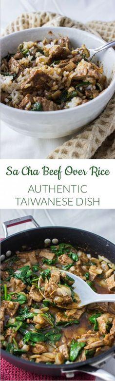 TAIWANESE SA CHA BEEF OVER RICE | http://savorytooth.com