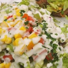 vegyes saláta receptek | NOSALTY Cobb Salad, Potato Salad, Potatoes, Diet, Ethnic Recipes, Food, Red Peppers, Eten, Get Skinny