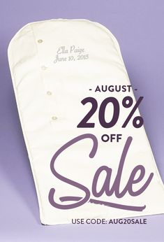20% through August 31, 2019!  Use Coupon Code AUG20SALE Wedding Gown Preservation, Inexpensive Wedding Venues, Wedding Gowns, Coding, August 31, Coupon, Dresses, Homecoming Dresses Straps, Vestidos