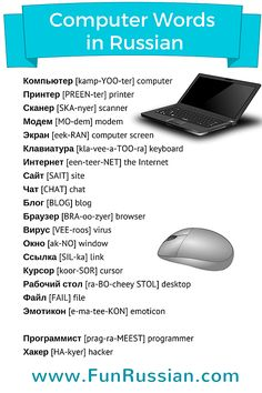Computer Words in Russian. Learn Russian with FunRussian.com!