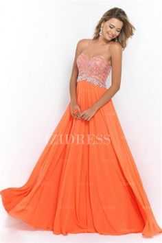 Robe cocktail mariage orange