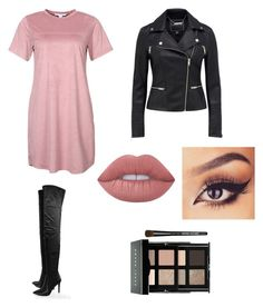 """""""Street style baddie"""" by vankaa on Polyvore featuring NLY Trend, Boohoo, Lime Crime and Bobbi Brown Cosmetics"""