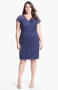 MARINA Lace Sheath Dress (Plus Size) | Nordstrom