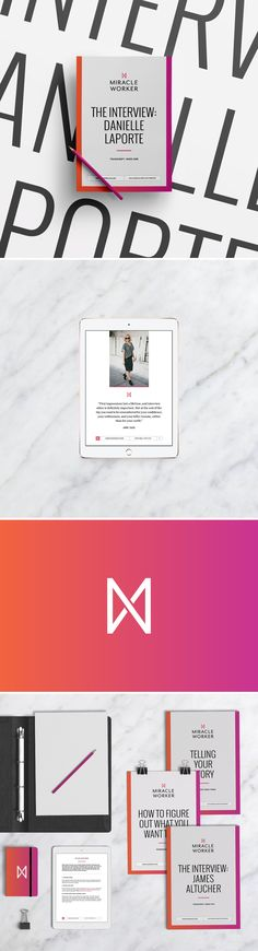 Beautiful designs by Branch | Miracle Worker - digital course materials including worksheets, workbooks and transcript guides + more