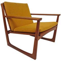 1stdibs.com | Hans Olsen Teak & Cane Lounge Chair