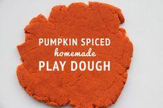 Pumpkin Spiced Homemade Play Dough