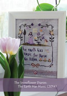 Garden inspired cross stitch pattern from traditional to modern: The Earth Has Music