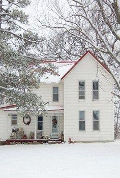 Farm House At Christmas