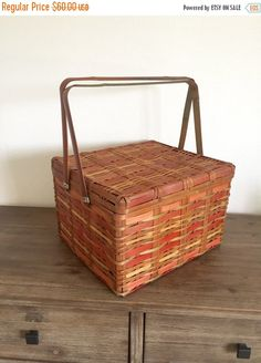 A personal favorite from my Etsy shop https://www.etsy.com/listing/477128033/picnic-basket-japanese-split-cane-bamboo