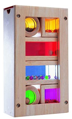 Wonderworld Rainbow Sound Blocks -- The multiple ways to play make this pricey toy worth it.  Make noise, stack, combine colors to make new ones.  Who could ask for more?  (Diapers.com)