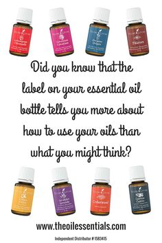Did you know that the label on your essential oil bottle tells you more about using that oil than what you might think?