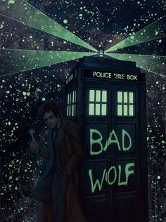 Amazing Glow in the Dark Doctor Who artwork at the Bottleneck Gallery