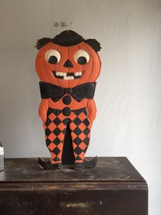Halloween German Die Cut Pumpkin Jack o by SaffronColoredPony Etsy shop Vestiesteam