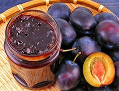 Jam from plums with nuts / Culinary Universe Plum Jam Recipes, Sweet Recipes, Georgian Food, True Food, Dessert Decoration, Russian Recipes, Canning Recipes, Afternoon Tea, My Favorite Food