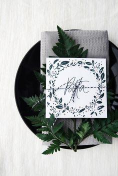 CHRISTMAS DINNER PRINTABLE CARDS