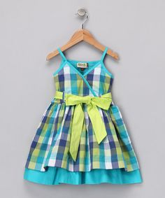 Take a look at this Blue Plaid Bettina Dress - Toddler & Girls by Sophie Catalou on #zulily today!