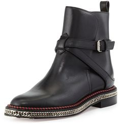 Christian Louboutin Chain-Midsole Red Sole Ankle Boot on shopstyle.com