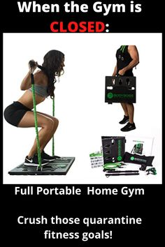 BodyBoss - Full Portable Home Gym Workout Package + Resistance Bands - Collapsible Resistance Bar, Handles - Full Body Workouts for Home, Travel or Outside Quick Easy Workouts, Gym Workouts, At Home Workouts, Gym Crush, Muscles In Your Body, Exercise Equipment, Gym Membership, Fat Burning Workout, Want To Lose Weight