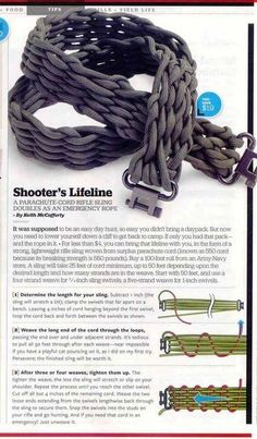 DIY Paracord rifle sling for emergencies