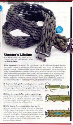DIY Paracord rifle sling for emergencies