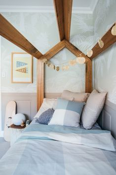 Kyal and Kara have project managed, designed or completed over 25 renovation projects. Timber Beds, Timber House, Home Bedroom, Kids Bedroom, Bedroom Ideas, Kyal And Kara, Baby Boy Rooms, Baby Boys, White Ceiling Fan
