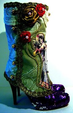 fairy tale fashion:    Victorian spats made by Maide