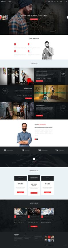 Escape Room - PSD Template #key #logical #logical game • Download ➝ https://themeforest.net/item/escape-room-psd-template/19217754?ref=pxcr