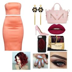 A fashion look from October 2017 featuring red bodycon dress, pink shoes and pink purse. Browse and shop related looks. Kendall, Kylie, Red Bodycon Dress, Pink Shoes, Henri Bendel, Kenzo, Huda Beauty, Polyvore Fashion, Marc Jacobs