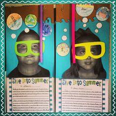 Elementary Shenanigans: Five for Friday.{Just pretend} End Of School Year, Summer School, Sunday School, Classroom Themes, Classroom Activities, Ocean Themed Classroom, Classroom Charts, Classroom Posters, Classroom Door