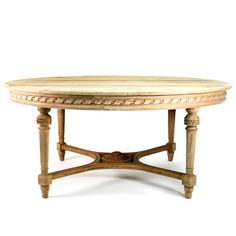 Houston French Style Dining Table, 71x57 (interesting size) | Belle Escape
