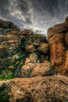 Climbing Out, located in the Wichita Mountains Wildlife Refuge near Lawton, Oklahoma.