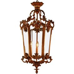 French Bronze Hanging Lantern | From a unique collection of antique and modern chandeliers and pendants  at https://www.1stdibs.com/furniture/lighting/chandeliers-pendant-lights/