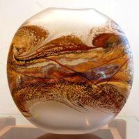 - Jupiter Flat Vase, Opal I Artist Jared Davis