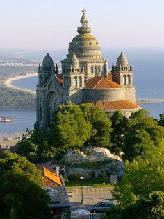 Basilica de Santa Luiza is a modern church on the river Lima , Viana do Castelo, Portugal
