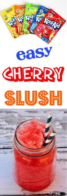 This Slushie beverage is a refreshing drink perfect for the summ… Cherry Recipes! This Slushie beverage is a refreshing drink perfect for the summer months! Cherry Slush Recipe, Strawberry Punch Recipes, Green Punch Recipes, Pinapple Smoothie Recipes, Slush Recipes, Party Punch Recipes, Coctails Recipes, Milkshake Recipes, Cherry Recipes