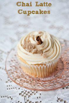 Vanilla Chai Latte Cupcakes - yum!