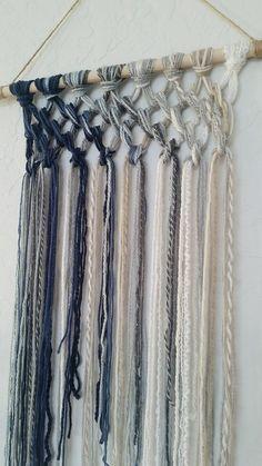 Tapestry Macrame Yarn Tapestry Yarn Wall Hanging Wall | Etsy