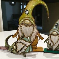 Nordic painted gnomes , 2 standing & 1 hanging in gift box - The British Craft House Gifts For Teens, Secret Santa, I Am Happy, Little Gifts, Painting On Wood, Gnomes, Home Crafts, Original Art, British