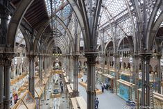 The Oxford University Museum of Natural History, Oxford, by Tomas Deane and Benjamin Woodward. Lake Photography, Stone Columns, Industrial Architecture, Holiday Places, Glass Roof, Natural History, Oxford, Places To Visit, University