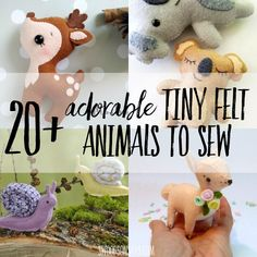 Sewing Stuffed Animals The cutest felt animals patterns to sew! - Swoodson Says - Top 10 list of the CUTEST felt animals patterns to sew. Includes over 10 free felt animal patterns - felt stuffed animal sewing patterns are so fun! Felt Patterns Free, Felt Crafts Patterns, Animal Sewing Patterns, Free Pattern, Felt Doll Patterns, Pattern Sewing, Fabric Crafts, Sewing Stuffed Animals, Stuffed Animal Patterns
