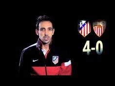 Liga 2012/13. Juanfran y Simeone analizaron para la cámaras del club la victoria ante el Sevilla en el Calderón.