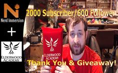 Guys! Our Giveaway video is live for a spellbook made by the awesome folks at Elderwood Academy! Follow the link in the video description, or this link here! https://gleam.io/wKUeF/nerd-immersion-2000-subscriber-giveaway Be sure to check out our various streams this month for random in stream giveaways! #dnd #giveaway #ElderwoodAcademy #critters #rpg #nerdimmersion