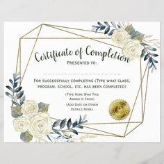 Shop Floral Certificate of Completion, Customize created by cutencomfy. Personalize it with photos & text or purchase as is! Certificate Of Appreciation, Customer Appreciation, Appreciation Gifts, Volunteer Appreciation, Certificate Design, Certificate Templates, Ramadan Activities, Welcome Home Gifts, Teacher Certification