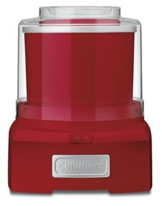 Cuisinart ICE-21R Frozen Yogurt-Ice Cream & Sorbet Maker, Red (086279031990) New mixing paddle makes frozen desserts and drinks in 20 minutes or less Large capacity makes up to 1-1/2-quarts Double insulated freezer bowl eliminates the need for ice Easy lock transparent lid with large spout makes adding ingredients simple and mess free Fully automatic with large ingredient spout for adding ingredients