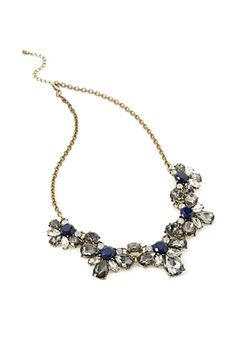 Floral Faux Gem Necklace | FOREVER21 | #thelatest