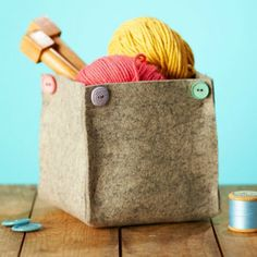 A place for every thing and every thing in its place. Make a simple storage basket to keep your craft supplies and knick knacks organised.