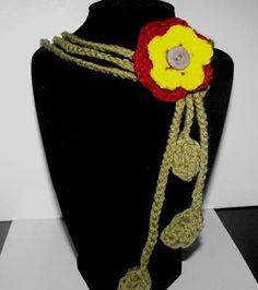 Crochet Flower Necklace on Handmade Artists' Shop