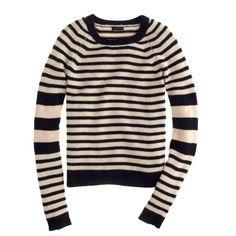 Cashmere Sleeve-Stripe Sweater / J.Crew