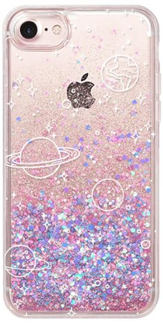 Casetify iphone 7 glitter case - universe by kind of style capa iphone 6