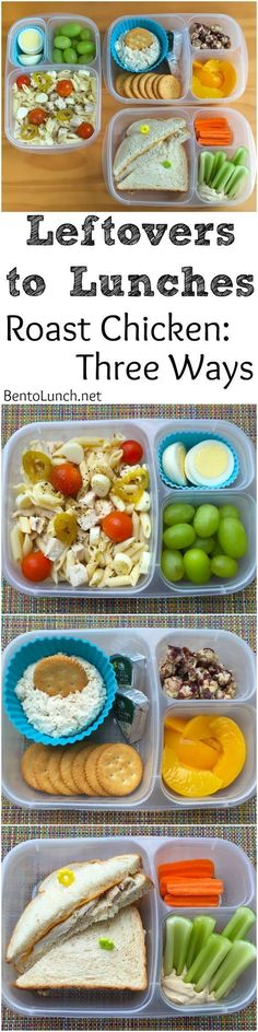 Leftovers to Lunchbox! 3 ways to use chicken leftovers in your /easylunchboxes/